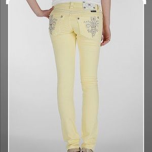 Miss Me Pastel Yellow Jeans